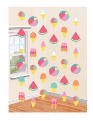 6 decorazioni da appendere Summer Party