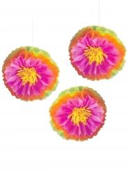 3 decorazioni fiori di ibisco multicolor