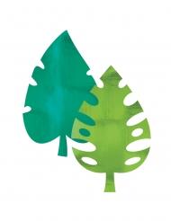 8 decorazioni in carta foglie di palma