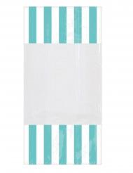 10 Sacchetti di plastica a righe menta 25 x 13 cm