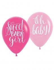 6 palloncini in lattice Sweet Baby Girl