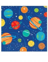 16 mini tovaglioli viaggio nello spazio
