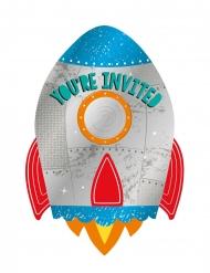 8 inviti per feste con buste viaggio nello spazio