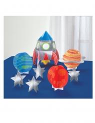 8 decorazioni per la tavola viaggio nello spazio