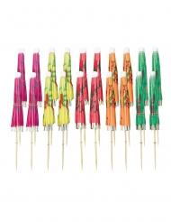 20 stecchini ombrelli multicolor