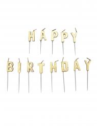 13 candeline Happy Birthday oro