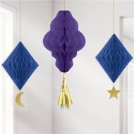 3 decorazioni alveolate mille e una notte