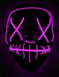 Maschera luminosa LED fucsia adulto