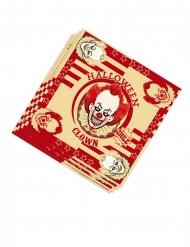 20 tovaglioli di carta clown assassino