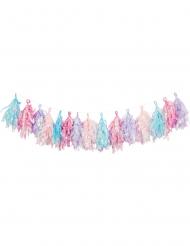Ghirlanda di nappe pastello iridescenti
