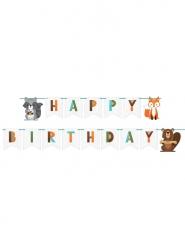 Ghirlanda in cartone Happy Birthday Animali della foresta 2.4 m