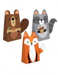 8 buste regalo in carta Animali della foresta 11.4 x 20 cm