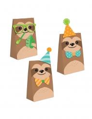 8 Buste regalo di carta piccolo bradipo