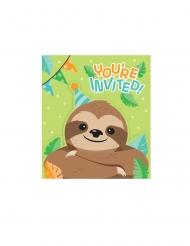 8 inviti con bustina piccolo bradipo