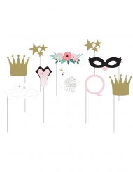 Kit photobooth 10 accessori cigno reale