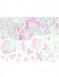 Coriandoli da tavola conchiglie iridescenti