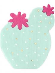 20 tovaglioli di carta cactus menta