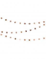Ghirlanda in cartone con stelle color oro rosa