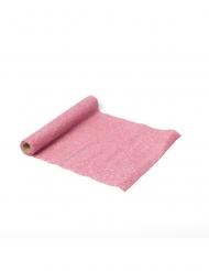 Runner da tavola scintillante rosa