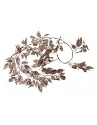 Ghirlanda di foglie con brillantini e paillettes oro