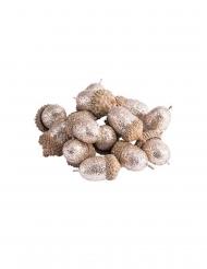 15 Ghiande con paillettes rame 3 cm