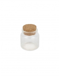 Flacone in vetro tappo di sughero 4.5 x 5.5 cm