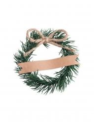 4 Segna posto corona di pino 6cm