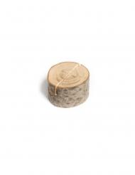 9 segna posto tronco di legno 4,5 cm