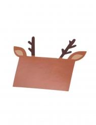 8 segnaposto in cartone marrone renna