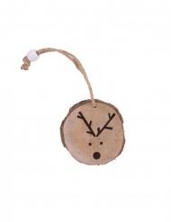 Rondella di legno con testa di renna