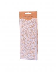 167 adesivi lettere e numeri oro