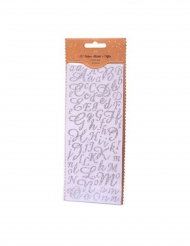 167 adesivi lettere e numeri argento