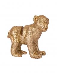 4 segnaposto scimmia in resina con brillantini oro