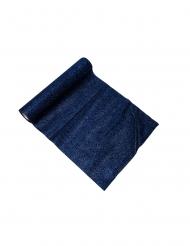 Runner da tavola scintillante blu