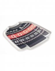 8 Piatti di carta maglione natalizio 19cm
