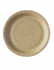 50 piatti kraft biodegradabili e compostabili 23 cm