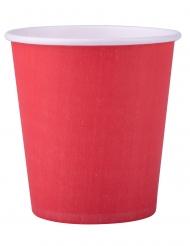 25 bicchieri in cartone color rosso