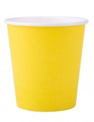 25 Bicchieri di carta gialli 200ml