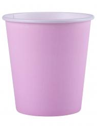 25 Bicchieri di carta rosa chiaro 200ml