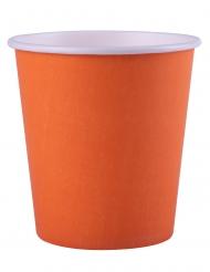 25 bicchieri in cartone color arancione