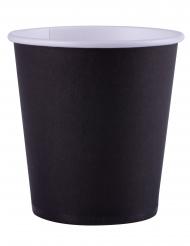 25 bicchieri in cartone color nero