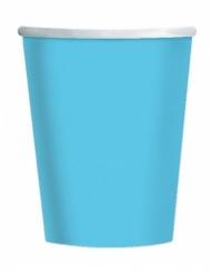 25 Bicchieri di carta blu cielo 200ml