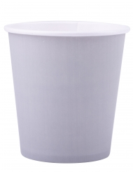 25 bicchieri in cartone color grigio