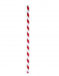 100 cannucce in cartone a righe rosse e bianche