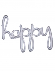 Palloncino alluminio Happy argentato