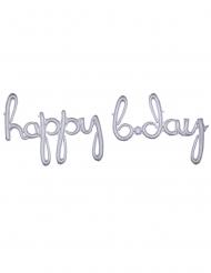 Palloncino alluminio argentato Happy BDay