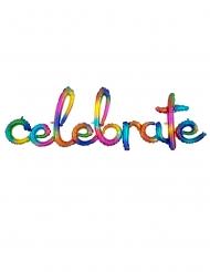 Palloncino alluminio Celebrate multicolor