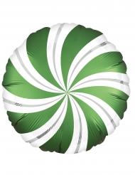 Palloncino alluminio lecca lecca verde e bianco