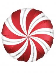 Palloncino alluminio lecca lecca rosso e bianco