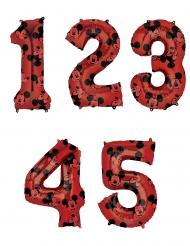 Palloncino alluminio numero rosso Topolino™